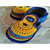 کفش کودک کاموا بافت با الیاف طبیعی